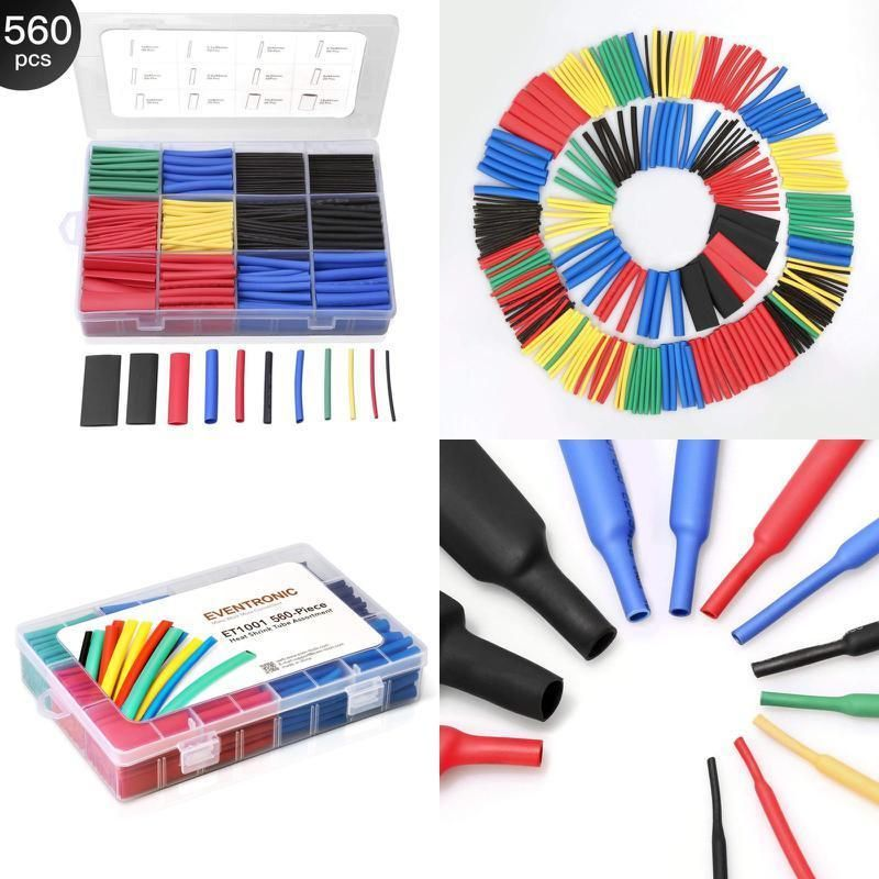 560Pcs Heat Shrink Tubing Electrical Insulation Tube Heat Shrink Wrap Cable S M5