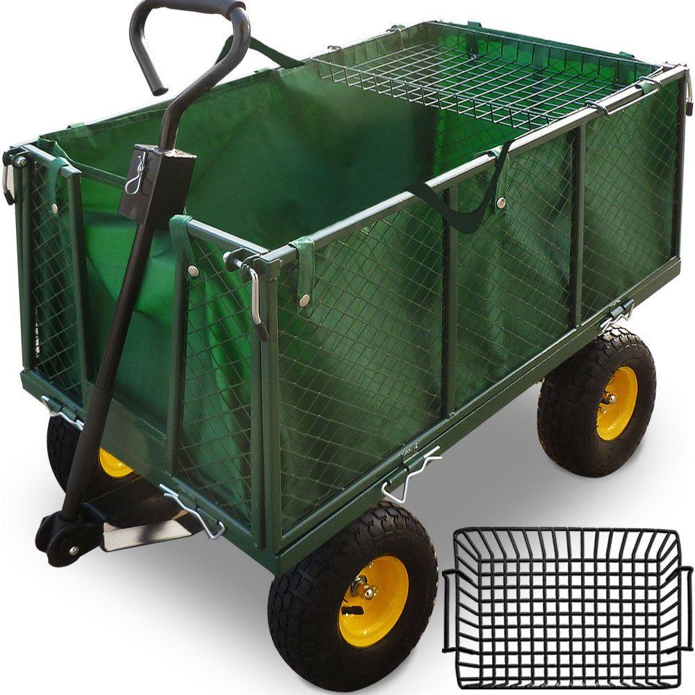 Details Zu Deuba Bollerwagen 550kg Transportwagen Gartenwagen Geratewagen Handwagen Ablage Wheelbarrow Garden Cart Trolley Cart
