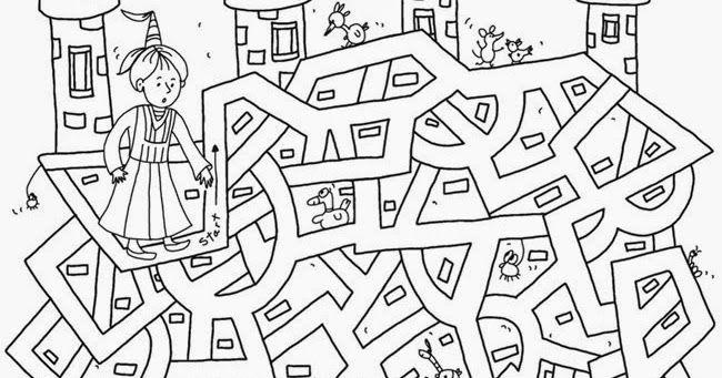 Dibujos para colorear de laberintos para niños... | Acertijos ...