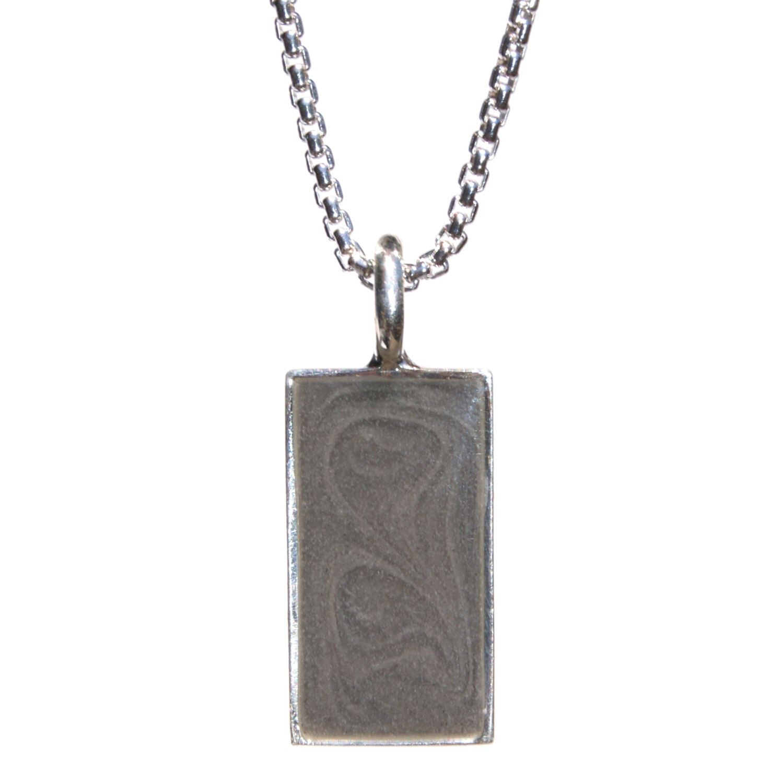Rectangular cremation pendant for man or woman mens cremation rectangular cremation pendant for man or woman aloadofball Images