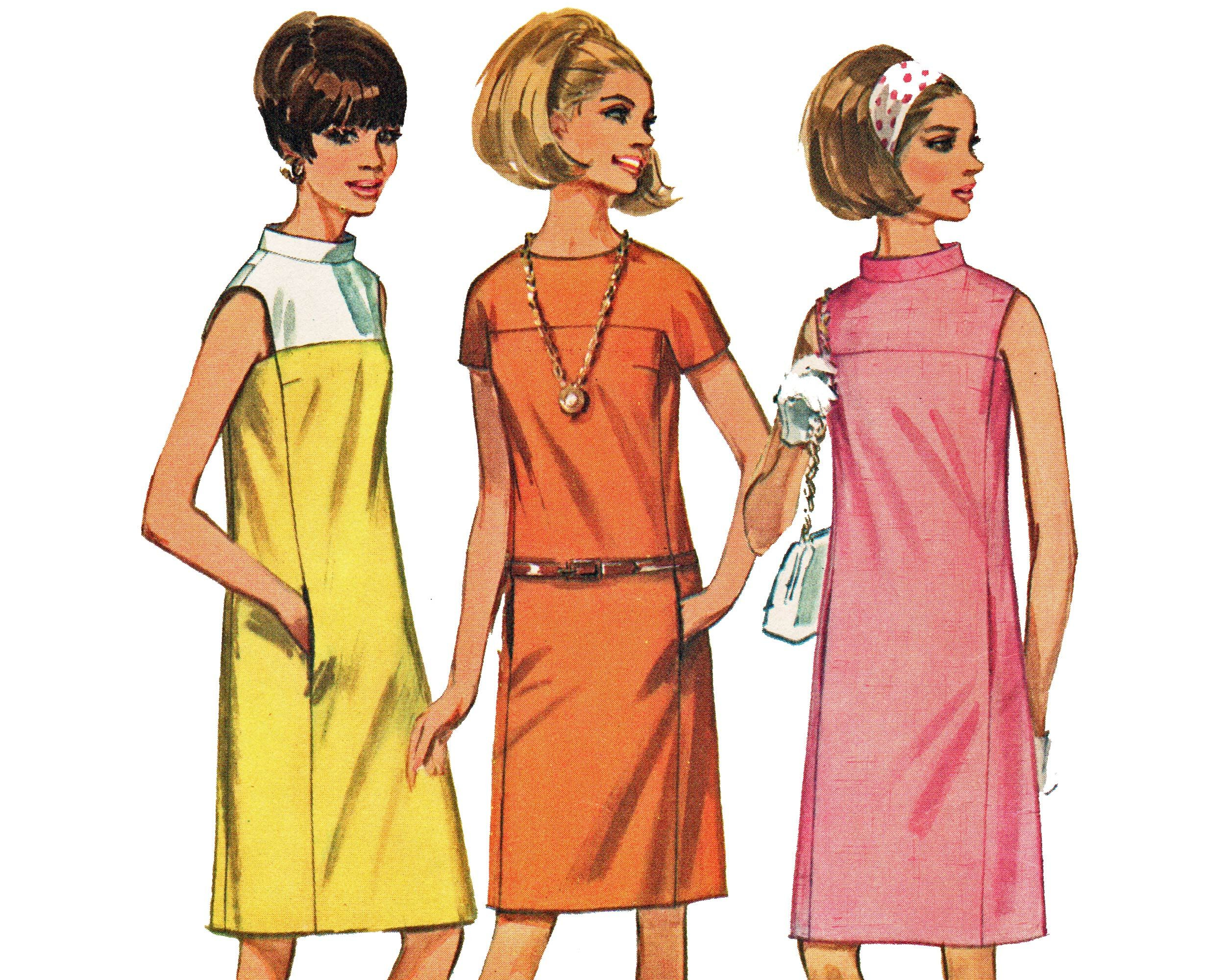Sewing Pattern For 60s Shift Dress Sleeveless Or Short Etsy Shift Dress Pattern Maxi Dress Pattern Wrap Dress Pattern [ 2000 x 2500 Pixel ]