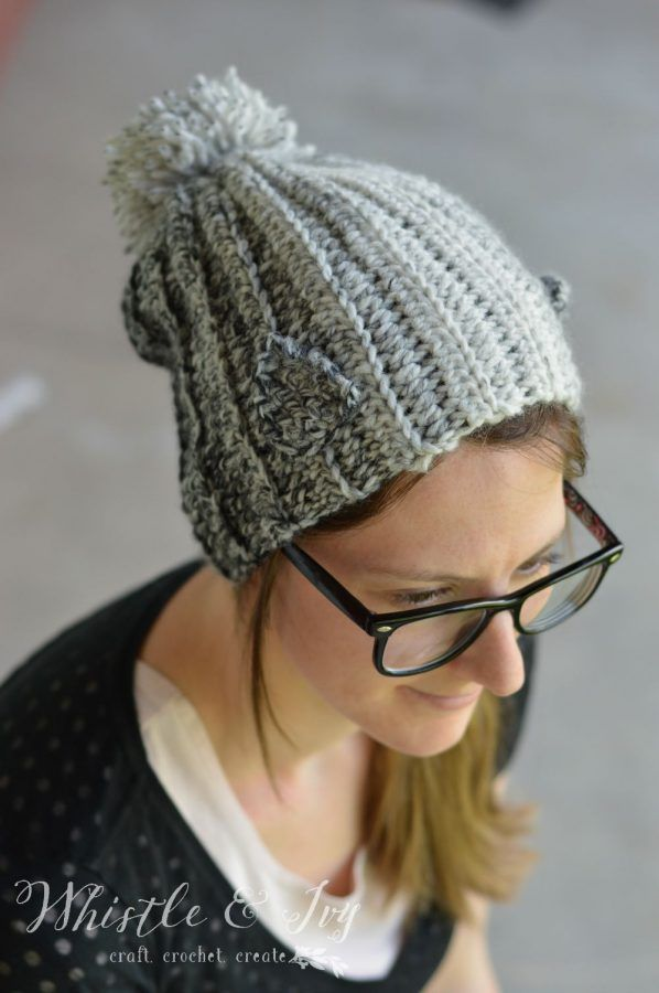 Wolf Pup Slouchy Hat Crochet Pattern | Do It Yourself Today ...
