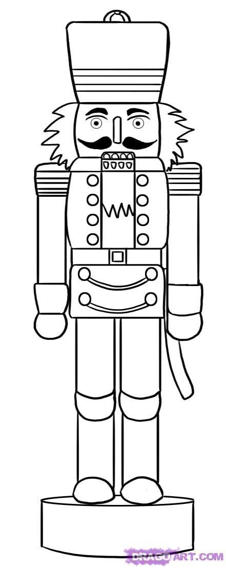 line drawing of a nutcracker