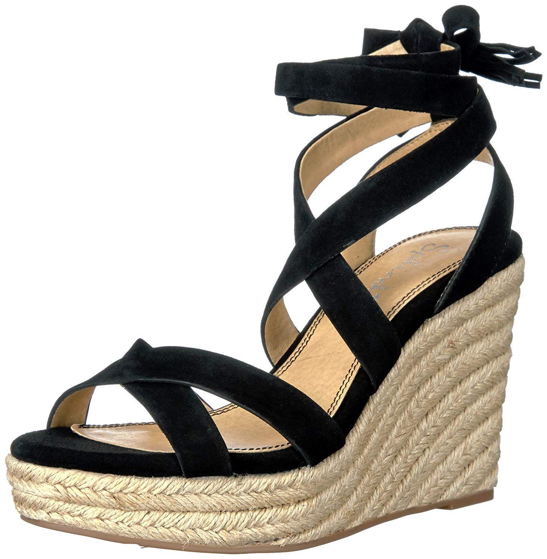 34d7dcde3e6 Splendid Women's Janice Espadrille Wedge Sandal. Ankle wrap up dress ...