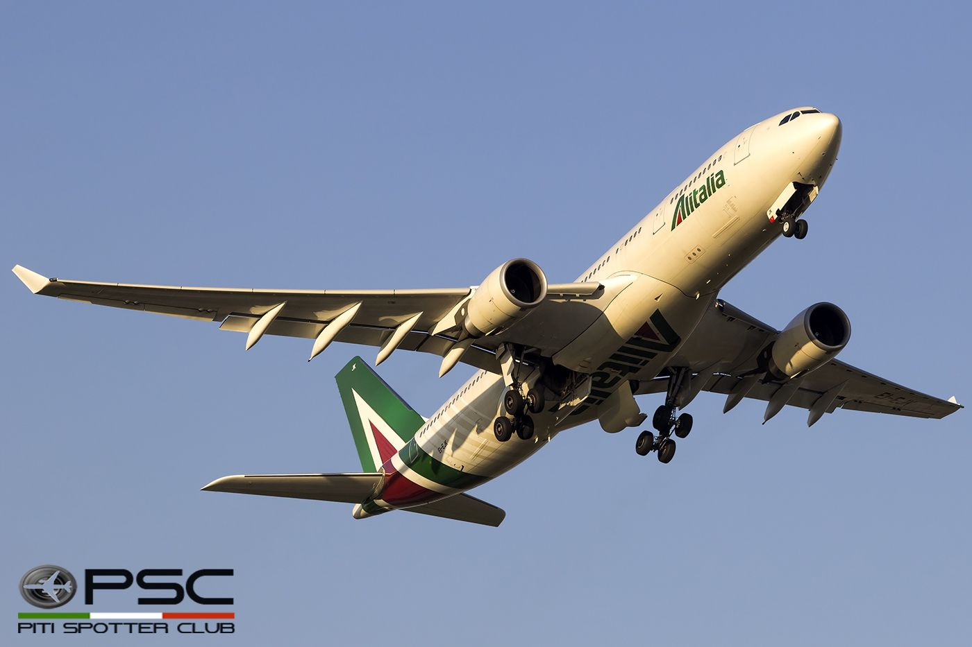 Take off from Roma Fiumicino