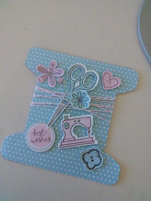 Fab Fabrics card by Tina Boyden for Craftwork Cards