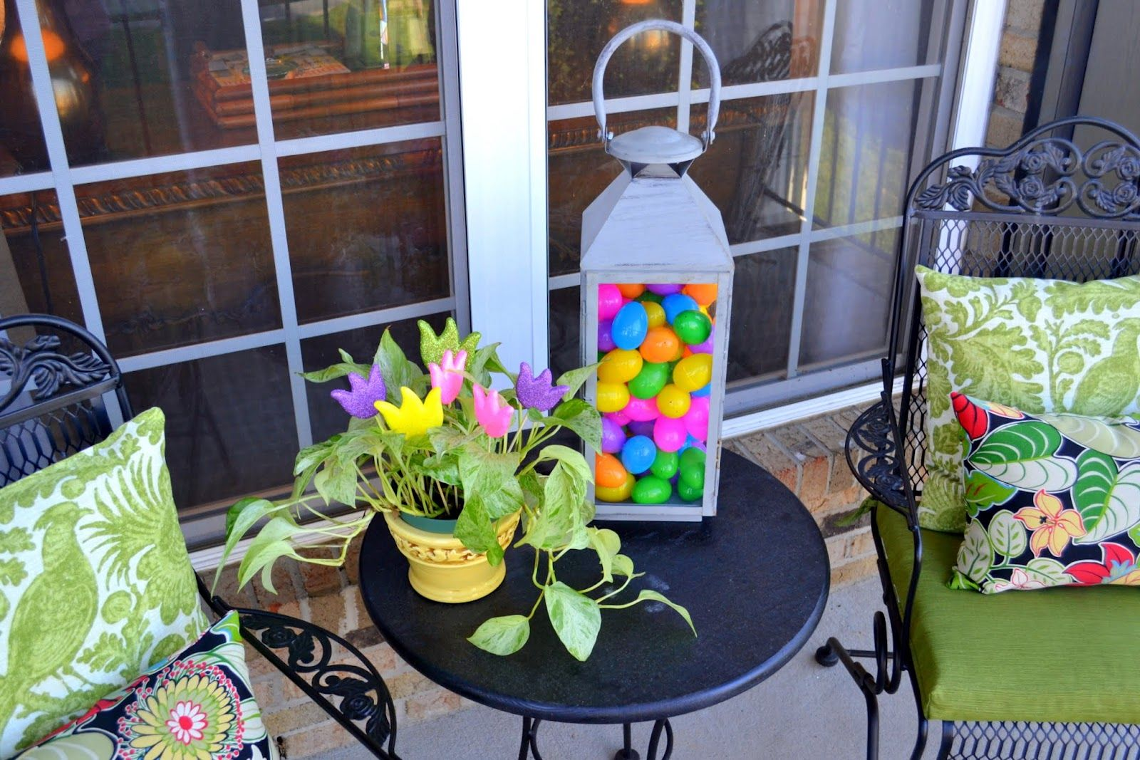 My Front Porch All Decked Out for Easter  Worthing Court  Easter