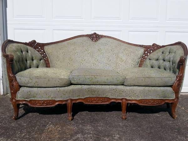 Antique Sofa 3 Piece Hand Carved