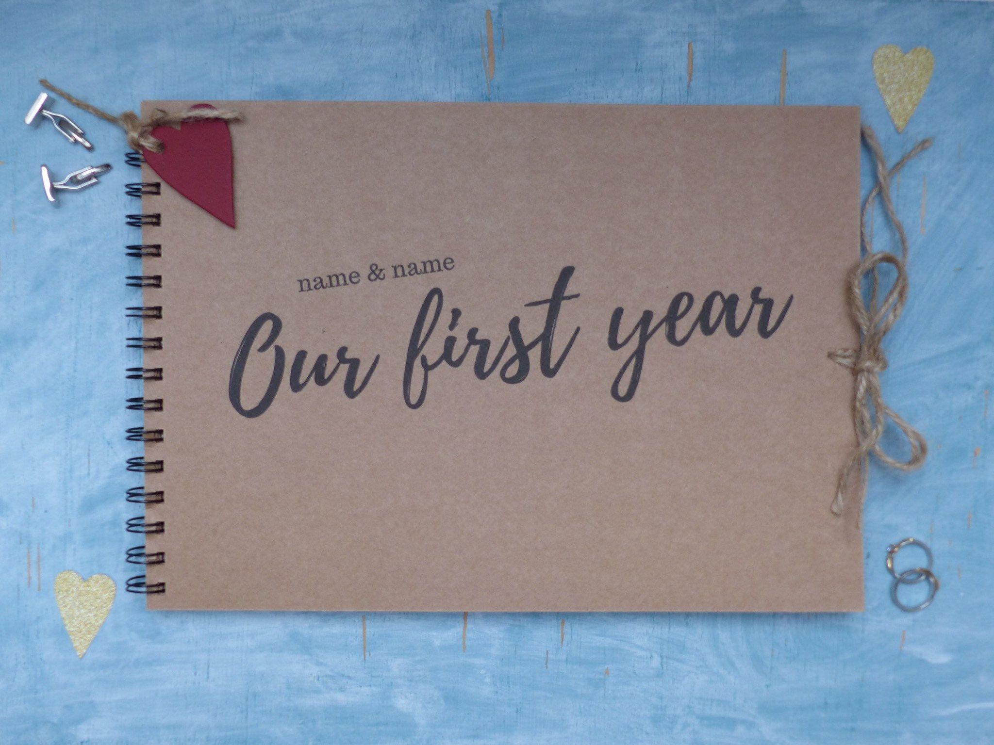 Personalised Anniversary Gift Custom Scrapbook Album First Year Journal Ou In 2020 Custom Scrapbook First Year Anniversary Gifts For Him One Year Anniversary Gifts