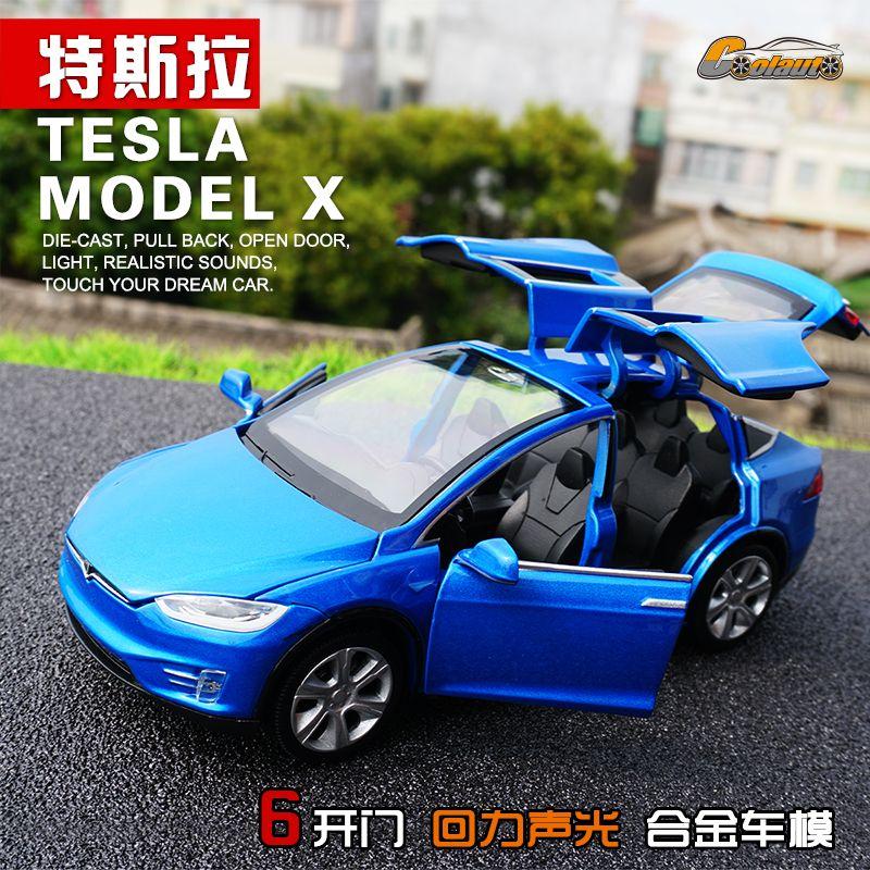 Tesla Car Dream Cars New: New 1:32 J&CLIFE Tesla MODELX90 Alloy Diecast Car Model