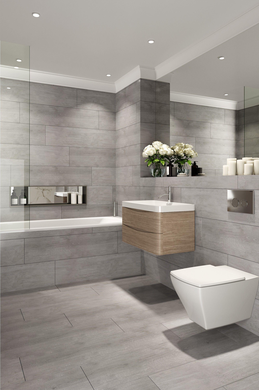 Light Grey Bathroom Tiles Floor
