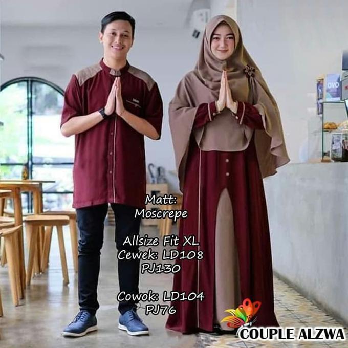 Gamis Gaul 2020 Baju Busana Muslim Gamis Couple Pria Wanita Wanita Muslim Warna