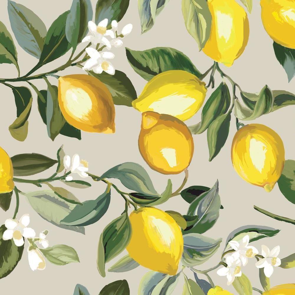Lemon Zest Peel And Stick Wallpaper In 2021 Spring Aesthetic Yellow Aesthetic Pastel Spring Wallpaper
