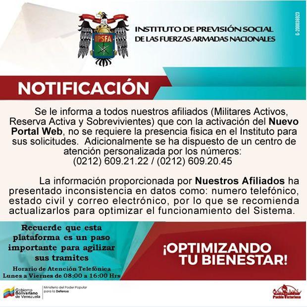 Portal   Instituto de Previsión de la Fuerza Armada Nacional Bolivariana