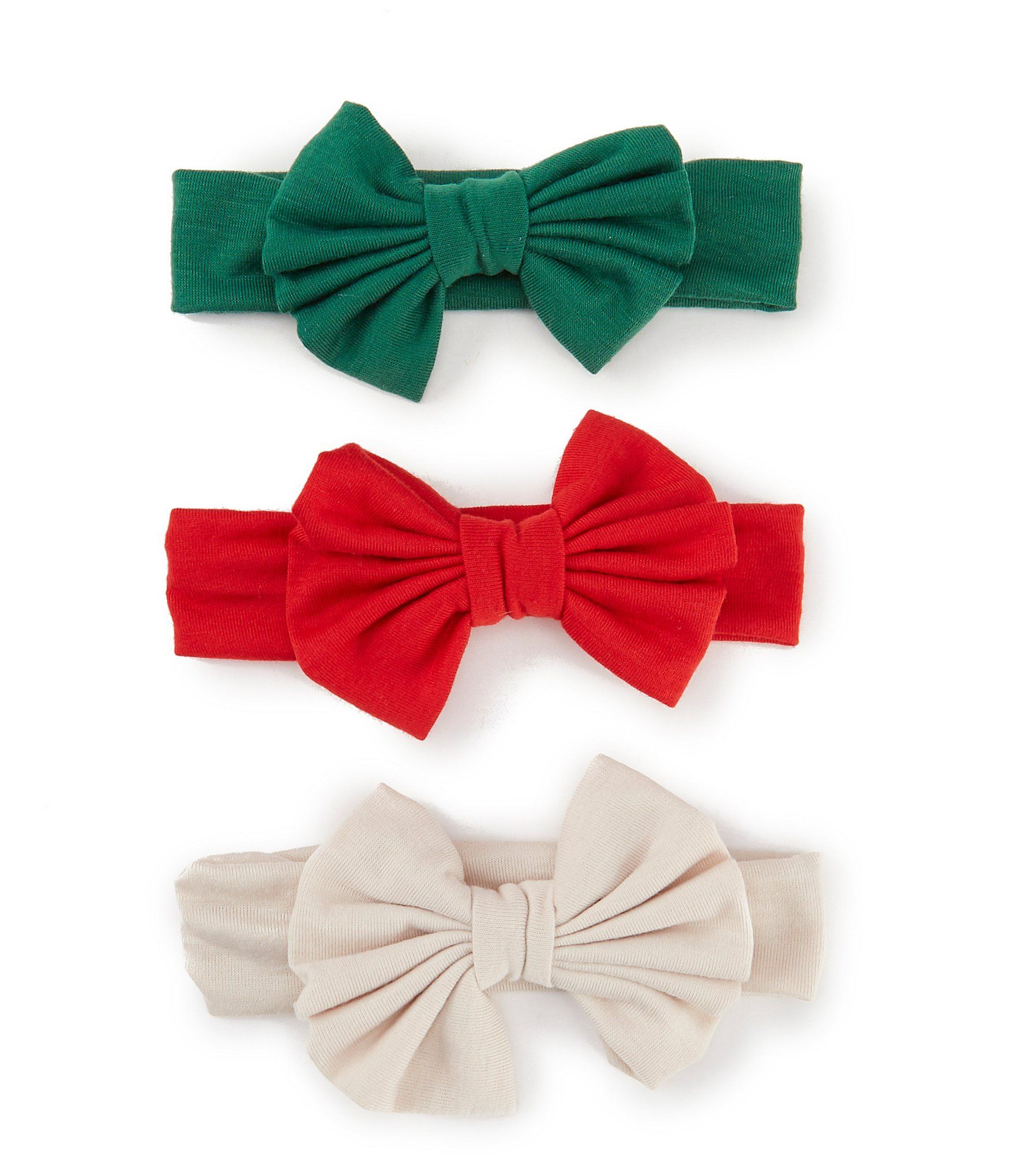 Photo of Starting Out Baby Girls 3-Pack Holiday Bow Knit Headwraps | Dillard's