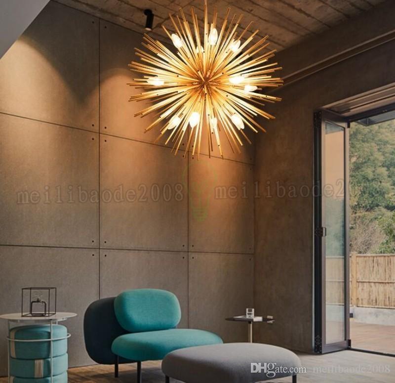 2018 NEUE moderne Gold Pendelleuchten Wohnzimmer Restaurant Studie