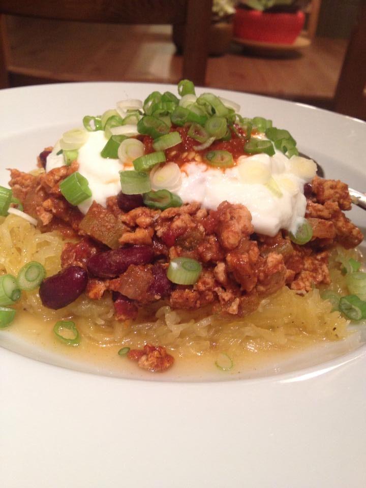 Turkey Chili w: Spaghetti Squash