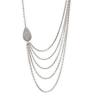 Irit Design Asymmetric Multi Chain Diamond Necklace in Silver