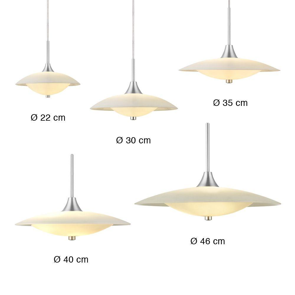 BARONI STEEL skandinavische Opalglas Pendelleuchte | Designleuchten ...