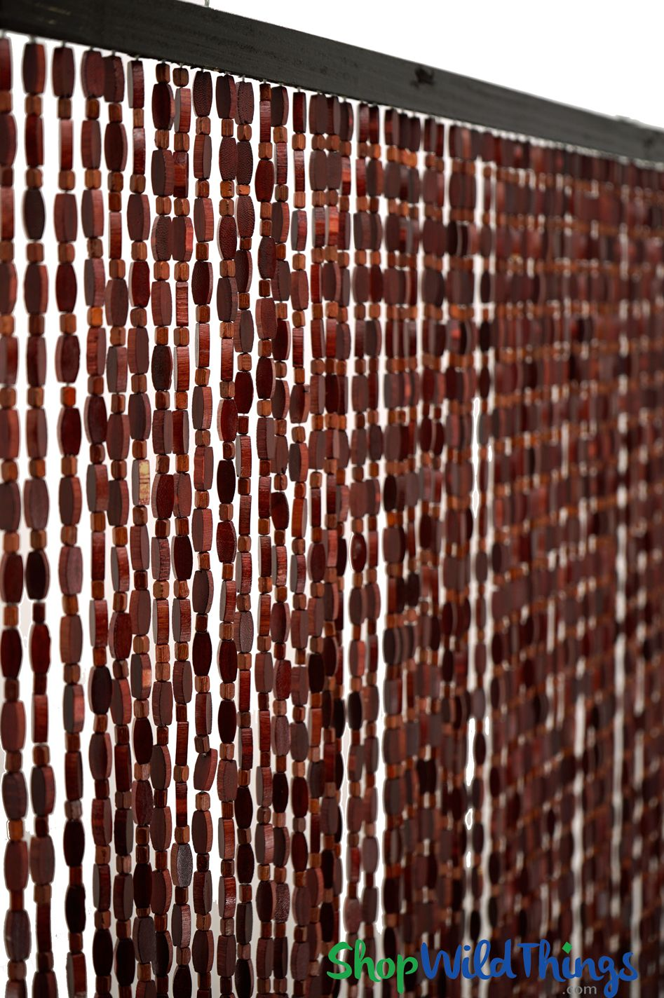 Wooden Bead Curtain Ashford Venetian Red 35 1 2 X 77 52 Strands Extra Coverage Beaded Curtains Curtains Wall Accents Decor