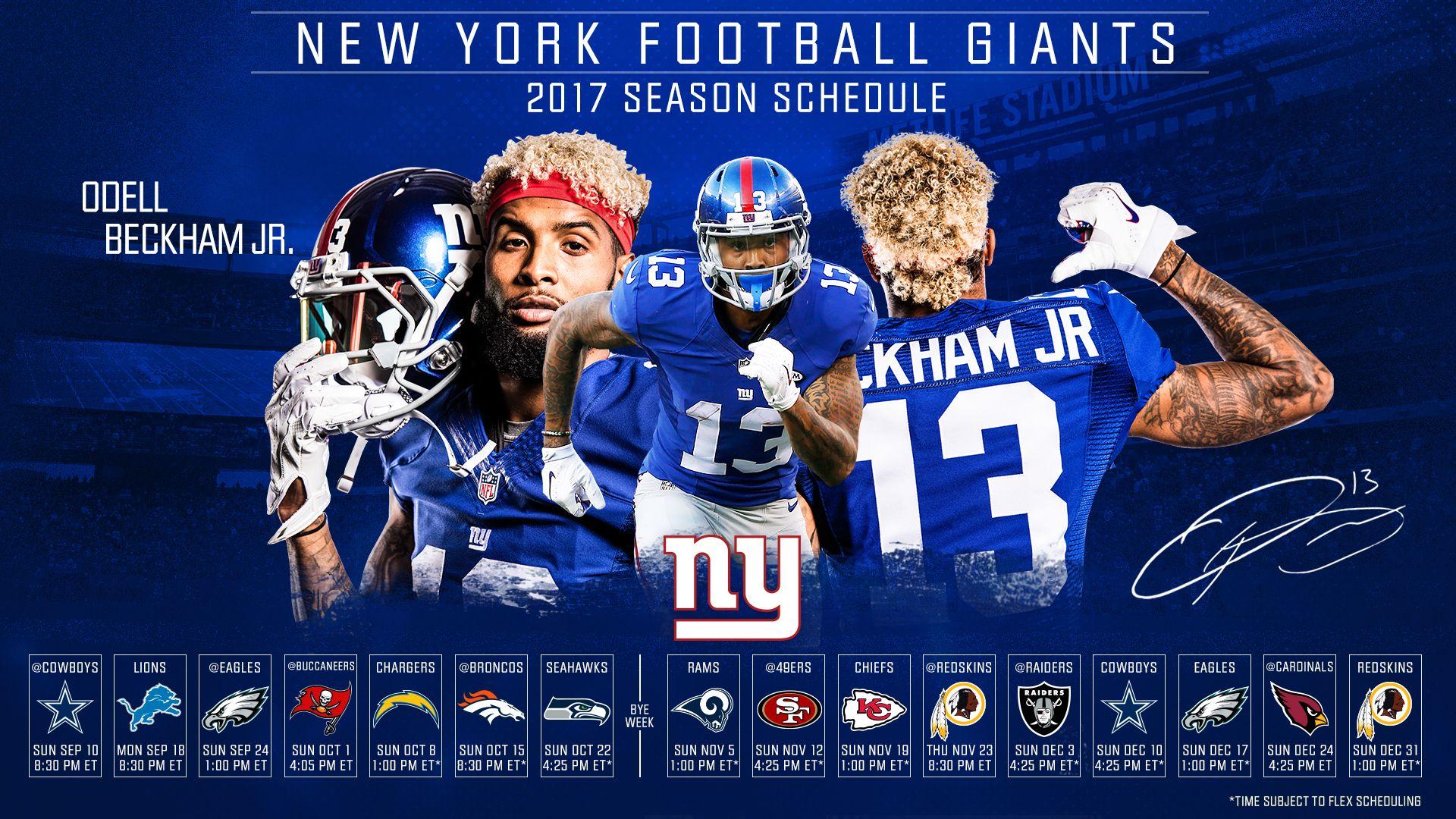 2017 Nfl Season Schedules Giants Wallpaper 2020 Live Wallpaper Hd Beckham Jr Odell Beckham Jr Nfl Football Wallpaper