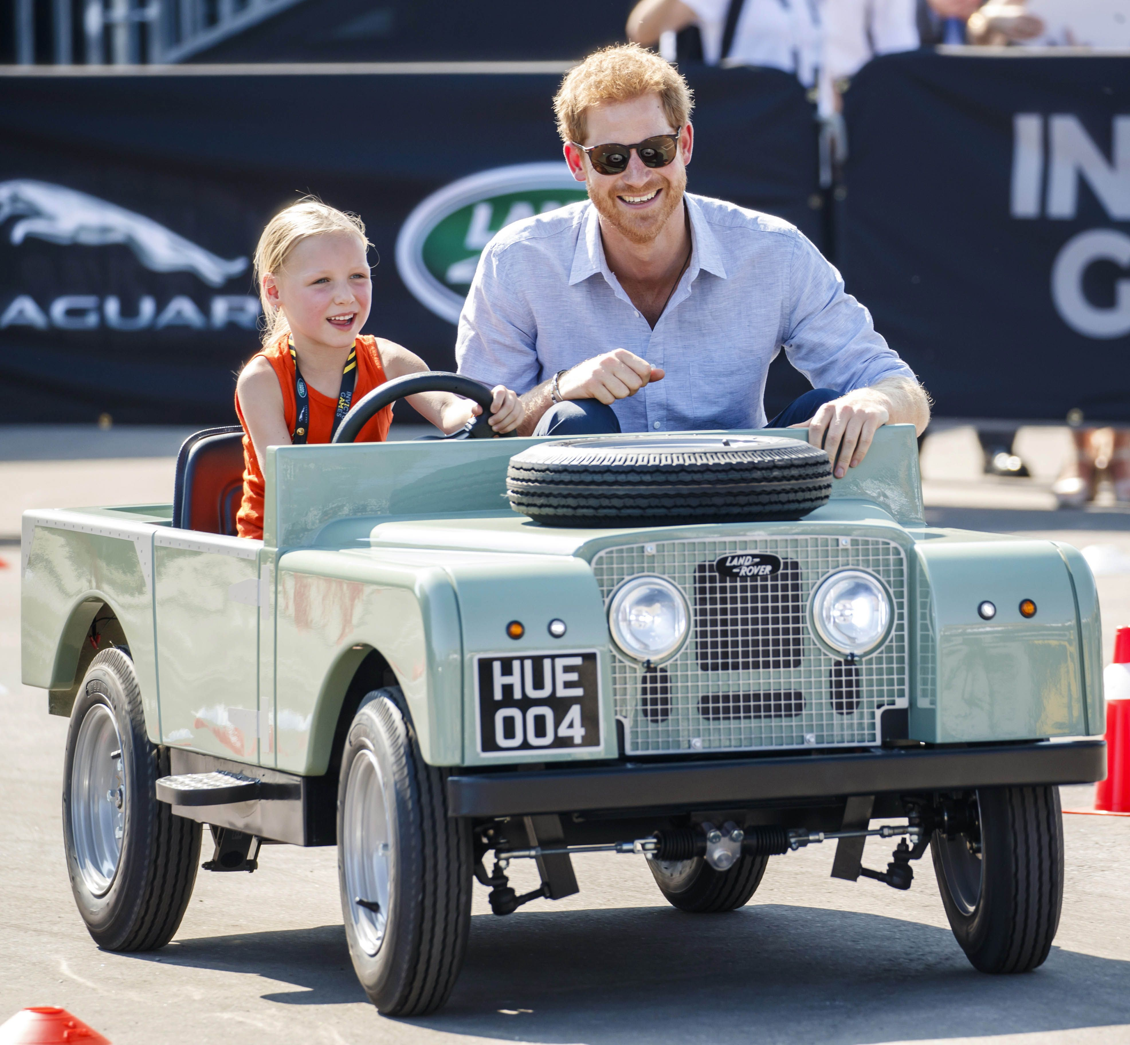 Home Daimy! Prince Harry Is Driven By A Five Year Old In A