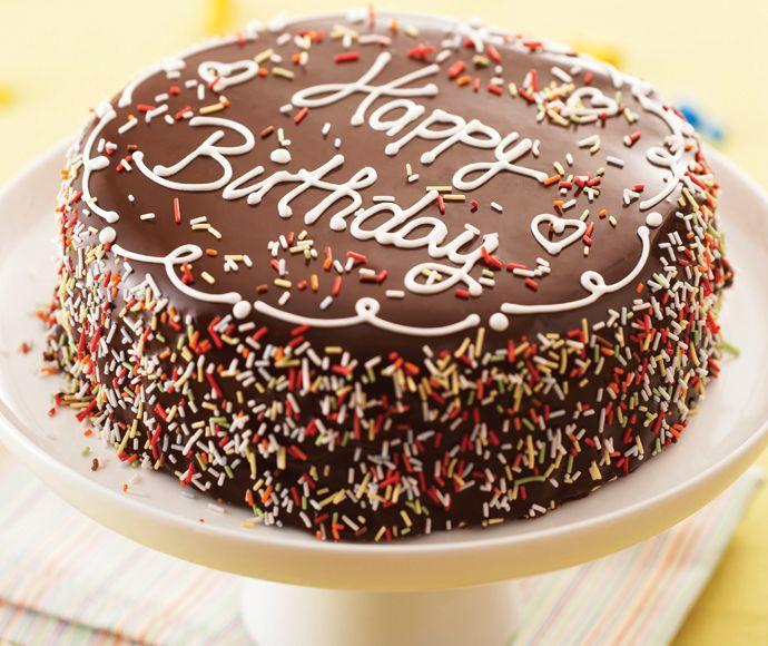 Geburtstagstorte Schoko Tortendekorieren Geburtstag Torte