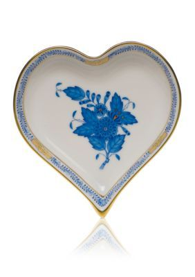 Herend  4-In. X 4-In. Small Heart Tray - White - One Size