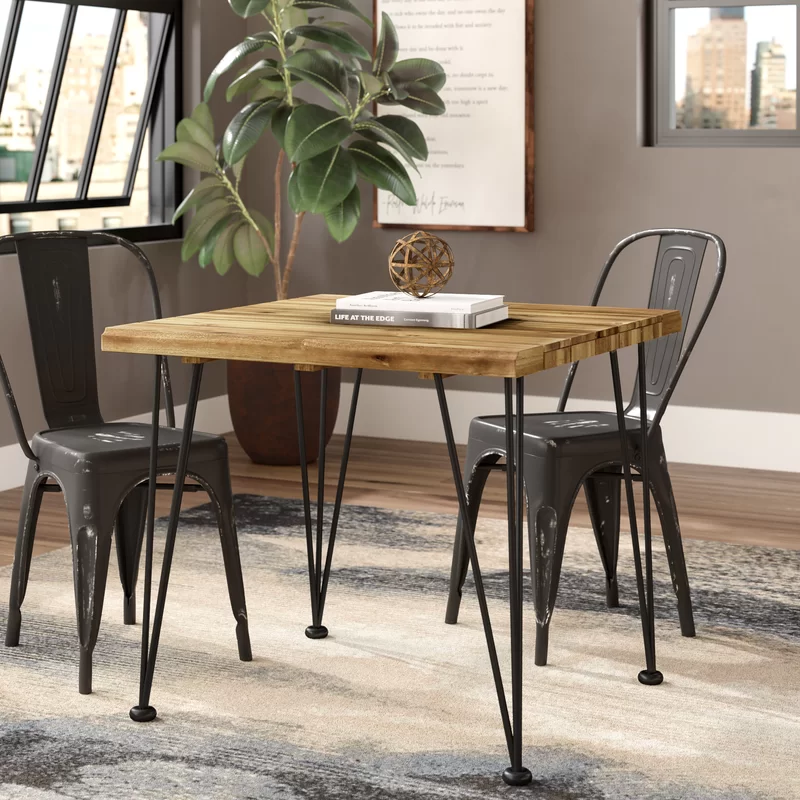 Tindley Indoor Acacia Wood Dining Table In 2020 Small Square