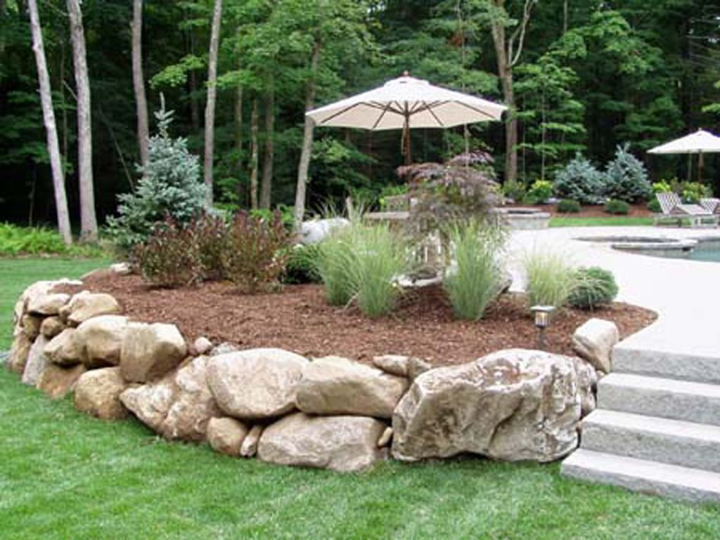 Natural Stone Walls By Connecticut Landscape Professionals Birch Mountain Earthworks Landscaping With Boulders Stone Landscaping Landscaping With Rocks