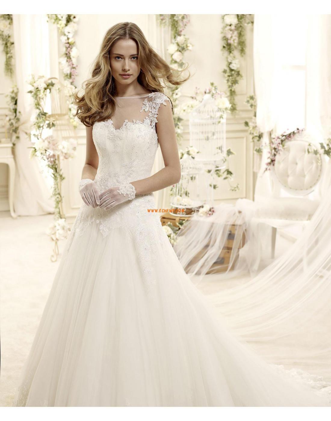 Coda a Strascico Cappella Pizzo Senza Maniche Abiti da sposa matrimonio civile