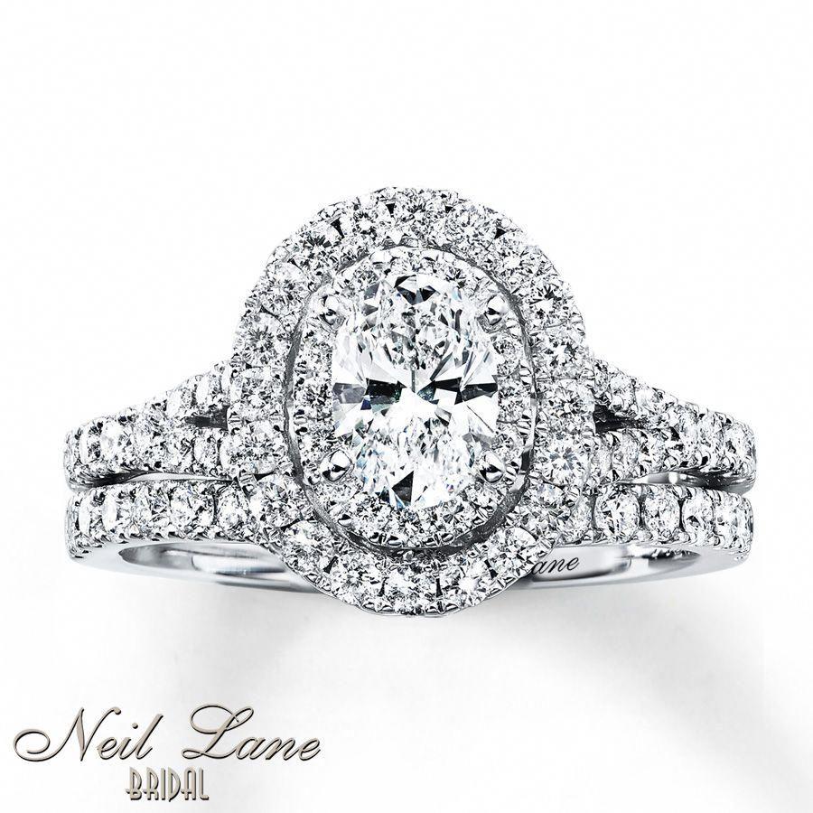 Kay Neil Lane Bridal Set 11/2 ct tw Diamonds 14K White