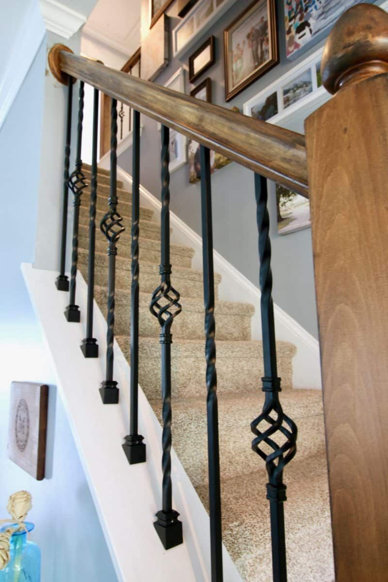 Best How To Replace Wooden Balusters With Iron The Easy And Cheap Way Banister Remodel Home 400 x 300