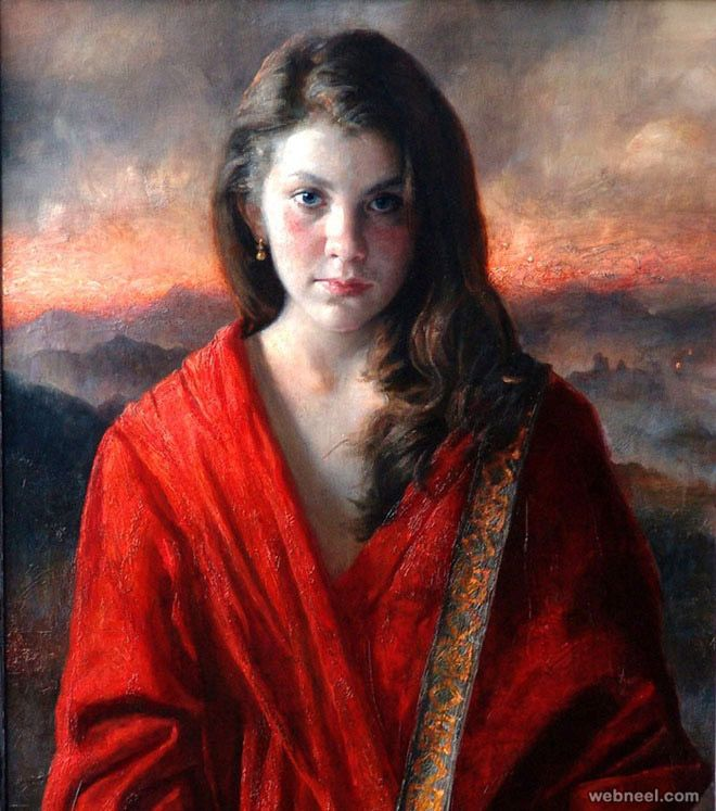 40 Most Beautiful Portrait Painting works from around the ... Famous Oil Portrait Paintings