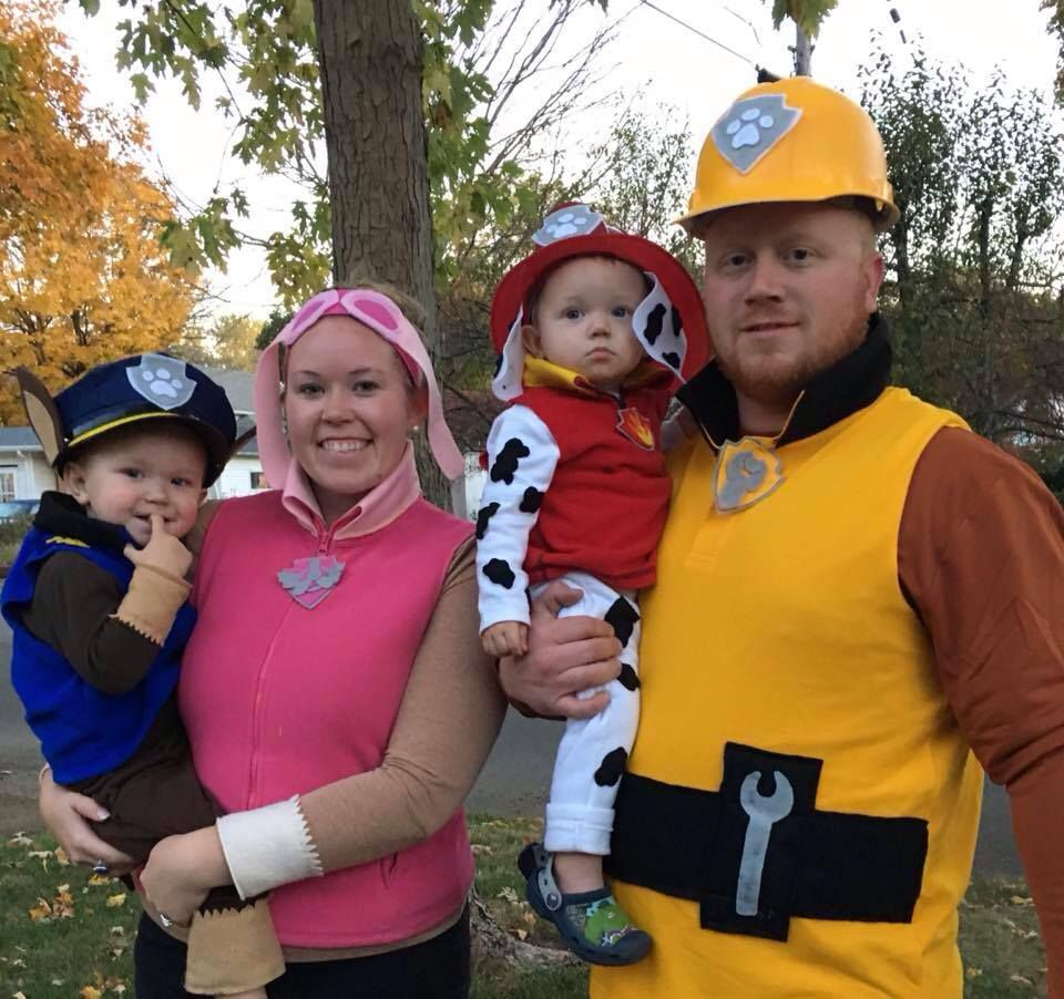 Skye Everest and Chase Paw Patrol Costumes Rubble Marshall Dress Up