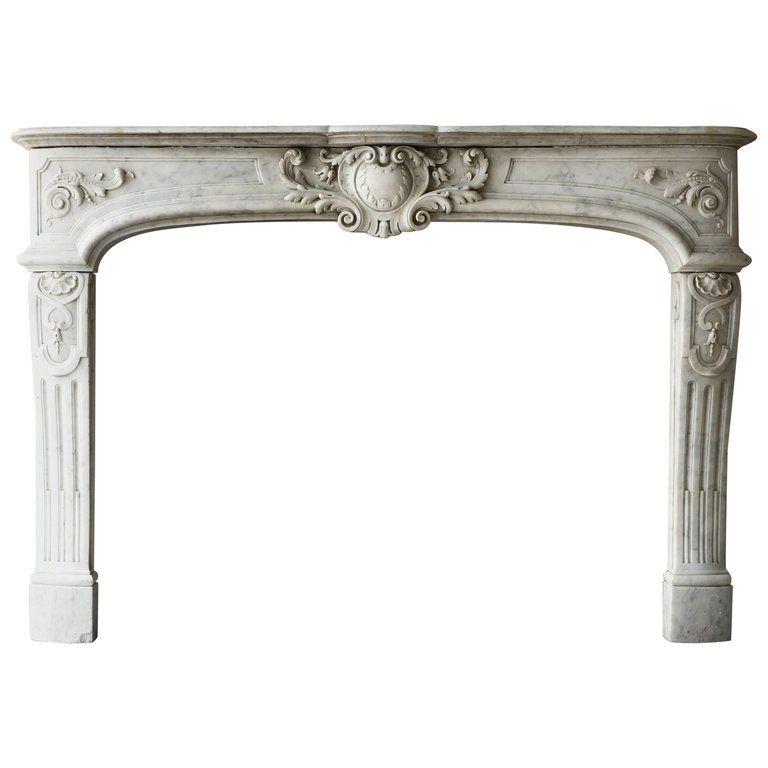 Rare Antique Marble Fireplace Of Carrara Marble Marble Fireplaces Carrara Marble Natural Stone Fireplaces