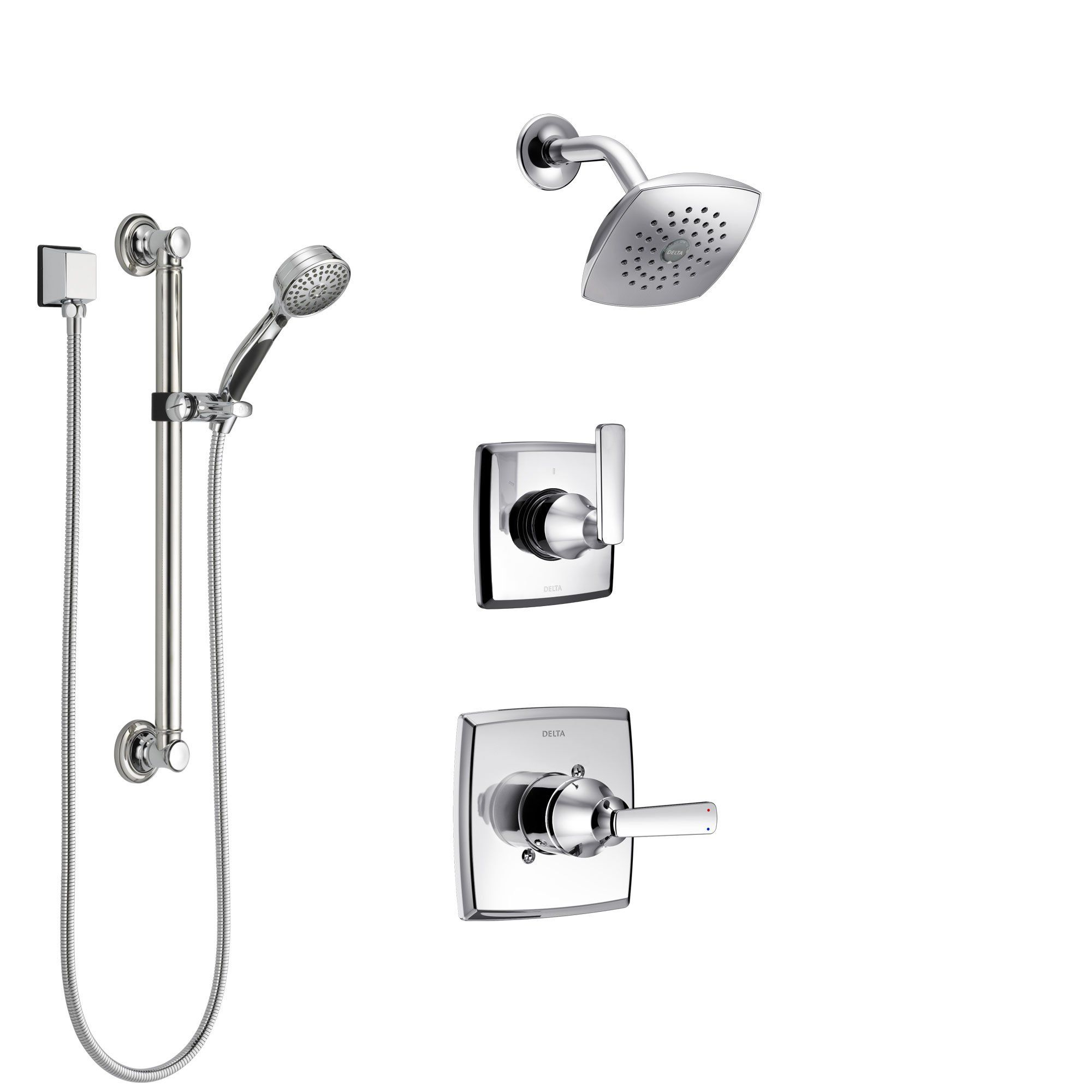 Delta Ashlyn Chrome Finish Shower System With Control Handle 3