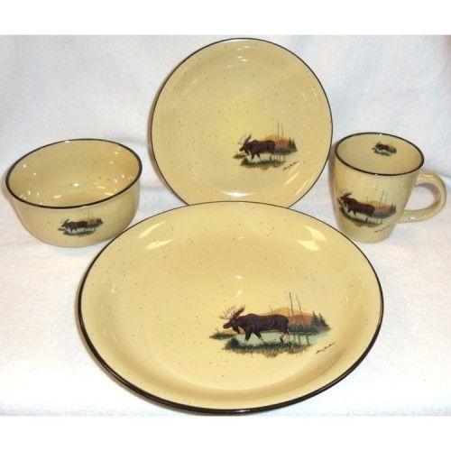 Scenic Moose Dinnerware  sc 1 st  Pinterest & Scenic Moose Dinnerware | Moose | Pinterest | Moose