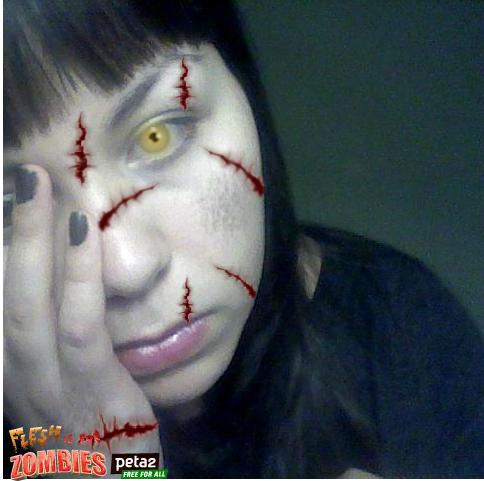 Thanx to The Vegan Zombie, I found this site through Peta, where you can zombify yourself. Fun!