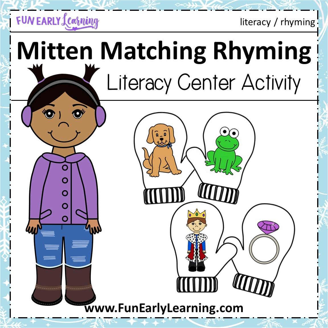 Mitten Matching Rhyming Activity