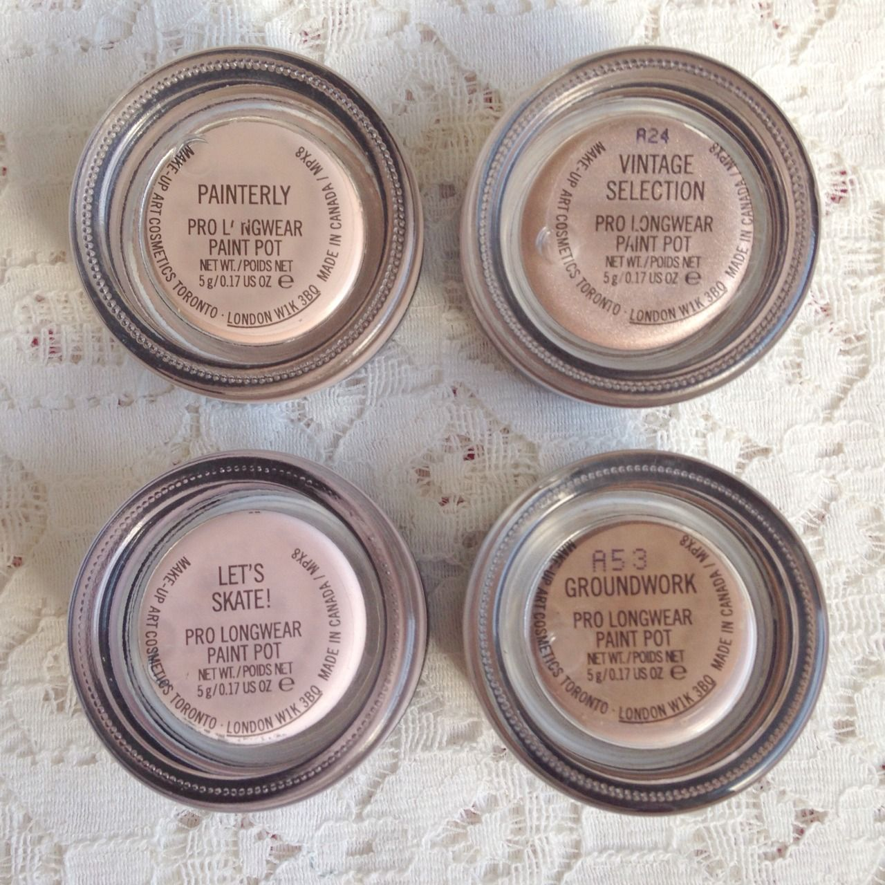Mac paint pot collection cream eyeshadow painterly for Mac paint pot groundwork