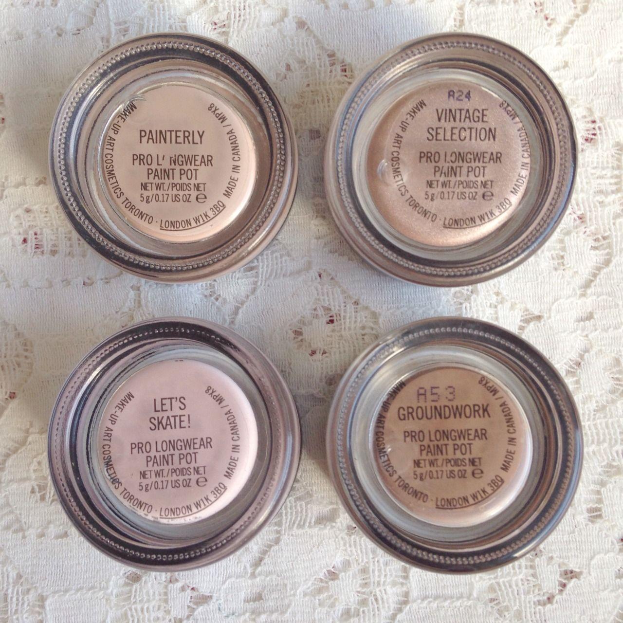 Mac paint pot collection, cream eyeshadow, painterly