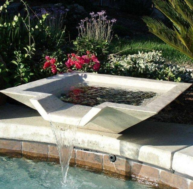 minimalistisches design-garten brunnen teich-anlegen | water,
