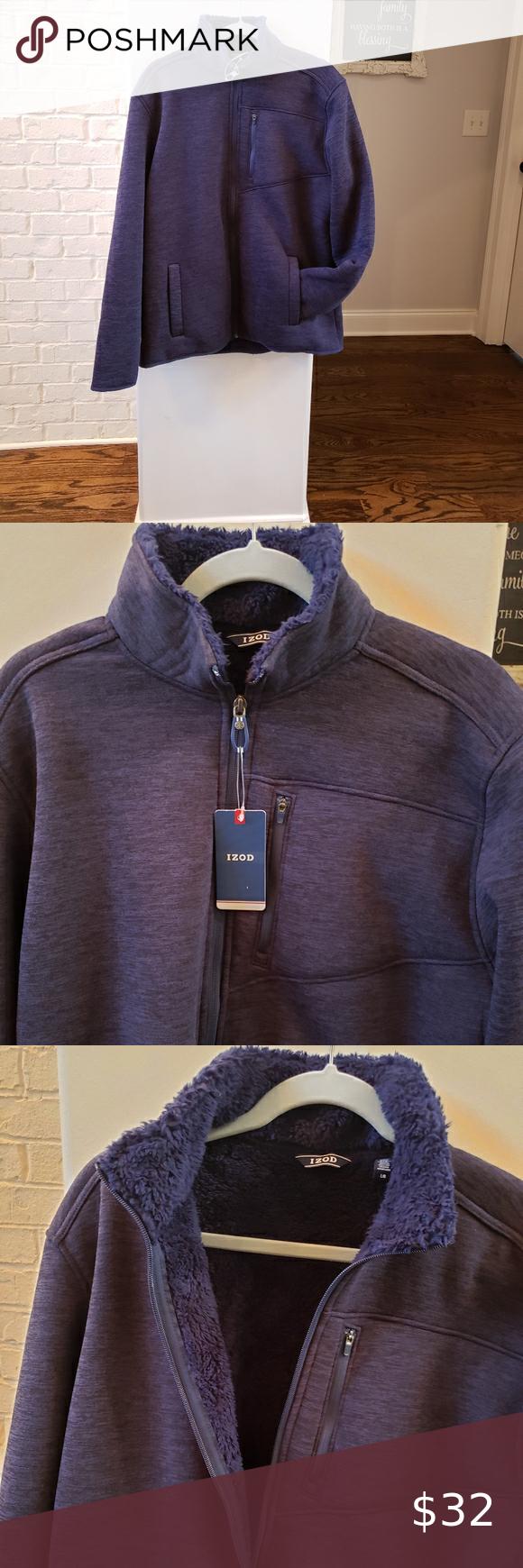 Izod Lightweight Shirts Shirt Jacket Zipper Jacket [ 1740 x 580 Pixel ]