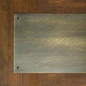 Classic Solid Brass Kick Plate 8 X 34 Antique Brass By Whittington Collection 67 95 This Traditional Kick Pl Door Kick Plates Kick Plate Home Hardware