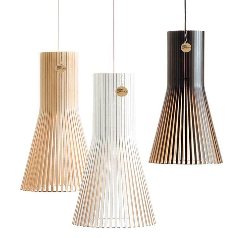 Replica seppo koho secto 4201 suspension wood pendant for Replica leuchten