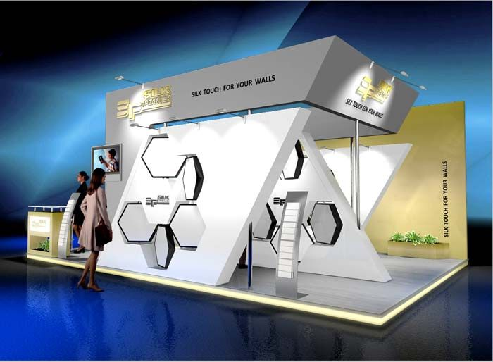 Exhibition Booth Header : Just the angled supports that match the header expo exhibition