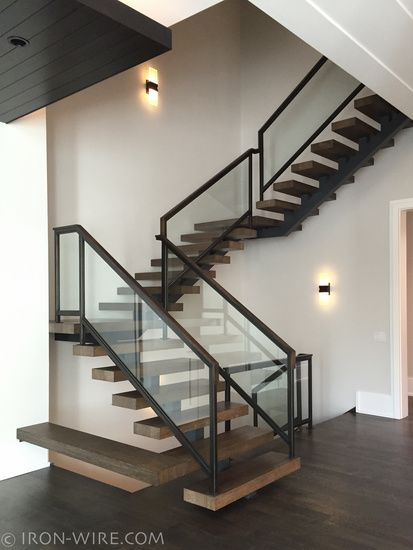 Modern railings custom stairs chicago modern staircase for Custom stair