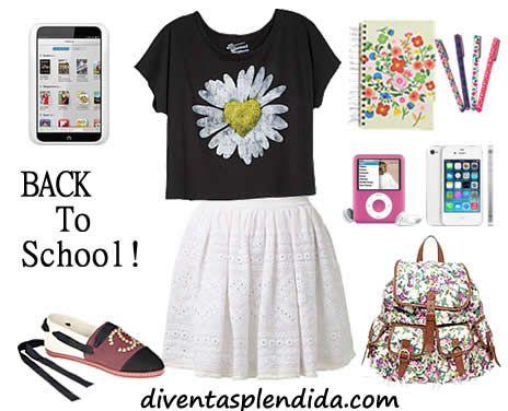 Look Per Primo Giorno Di Scuola Outfit Scuola Primo Giorno Di