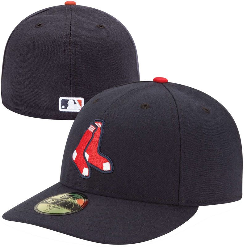 60d7a9d4 Boston Red Sox New Era Authentic Collection Low Profile Home Logo 59FIFTY  Fitted Hat - Navy